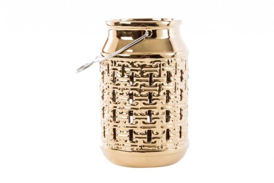 Keramički svećnjak golden 13x20