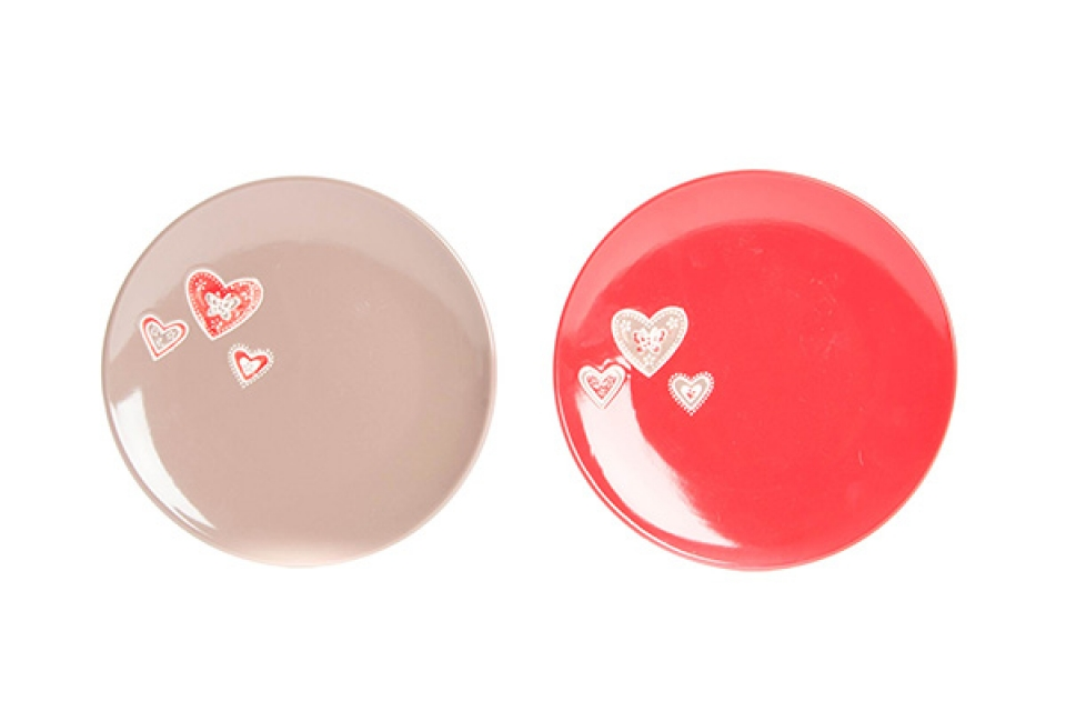 Keramički tanjir tri srca 20 cm
