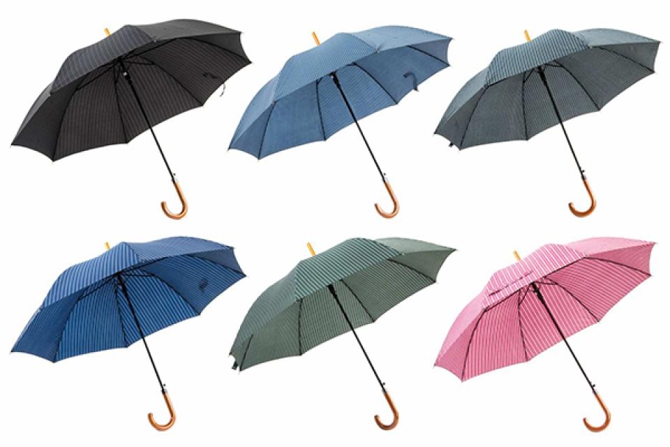 Kišobran u boji štraftice 103x85 6 boja