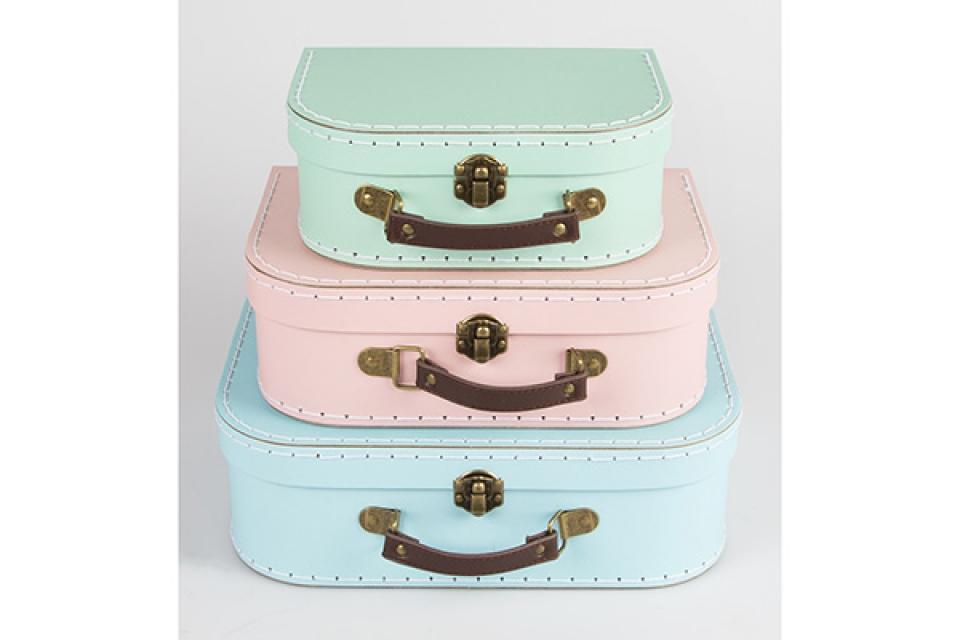 Koferčić set od 3 pastelne boje