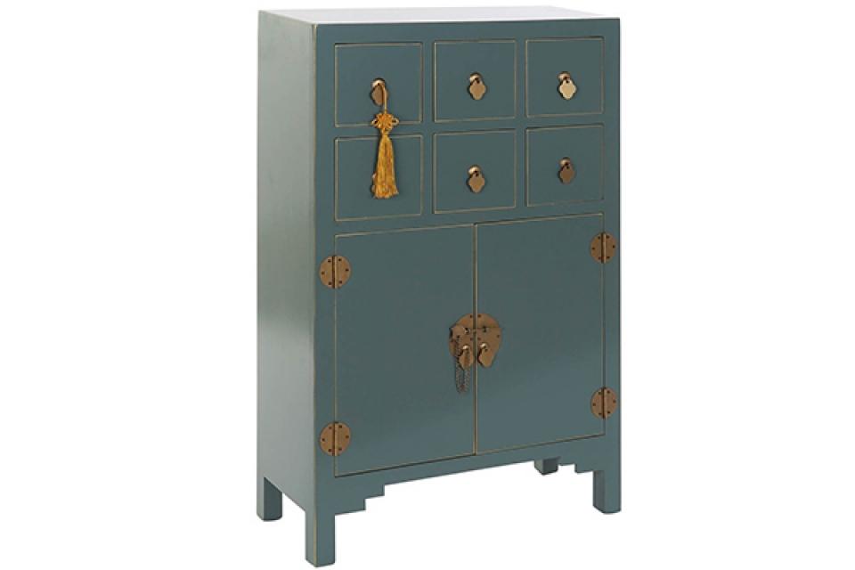 Komoda oriental turquoise 63x27x101