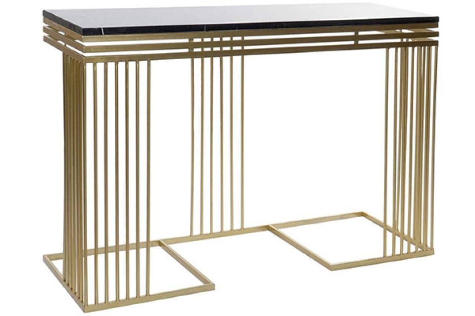 Konzola matte golden 120x40x83