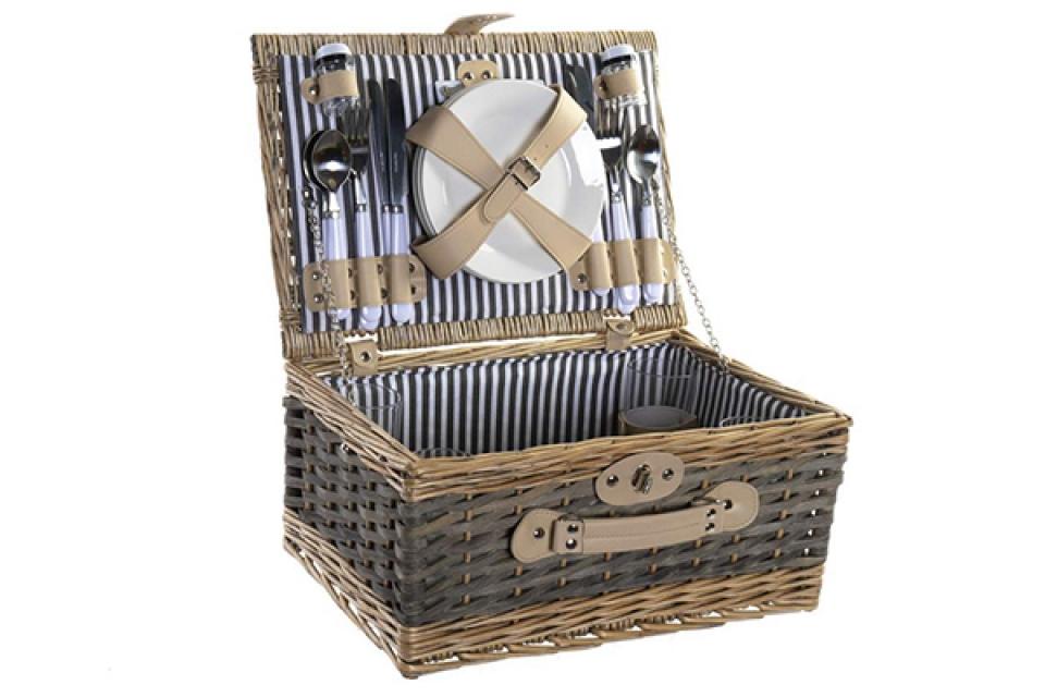 Korpa za piknik štrafte 40x28x19