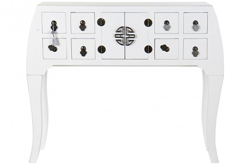 Konzola oriental white 98x26x80