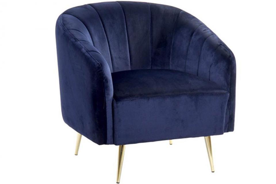 Kraljevsko plava fotelja 75x70x75