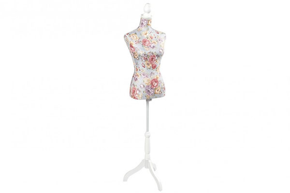 Krojačka lutka pink flower 37x23x168