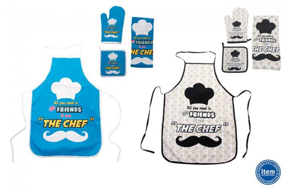 Kuhinjski tekstil set 4 the chef 50x75 2 modela