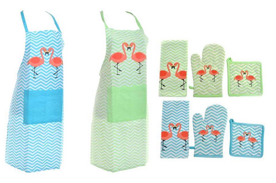 Kuhinjski tekstil set / 4 flamigos 60x80  2 modela