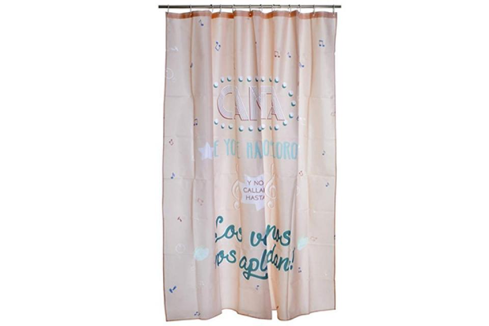 Kupatilska zavesa pink 180x200
