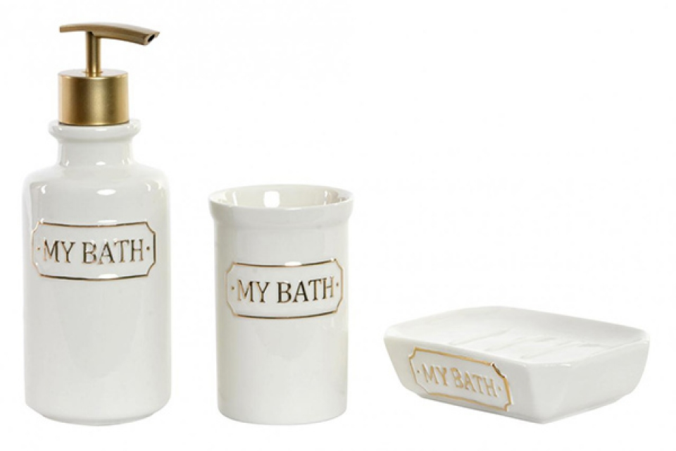 Kupatilski set my bath golden 7x7x18