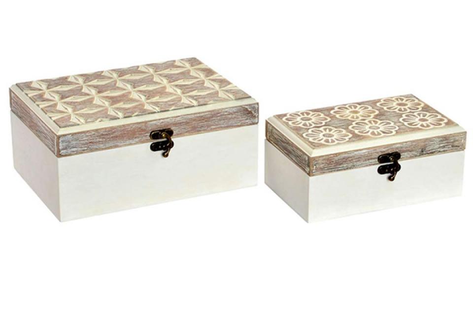 Kutija floral aged / 2 20x15x9