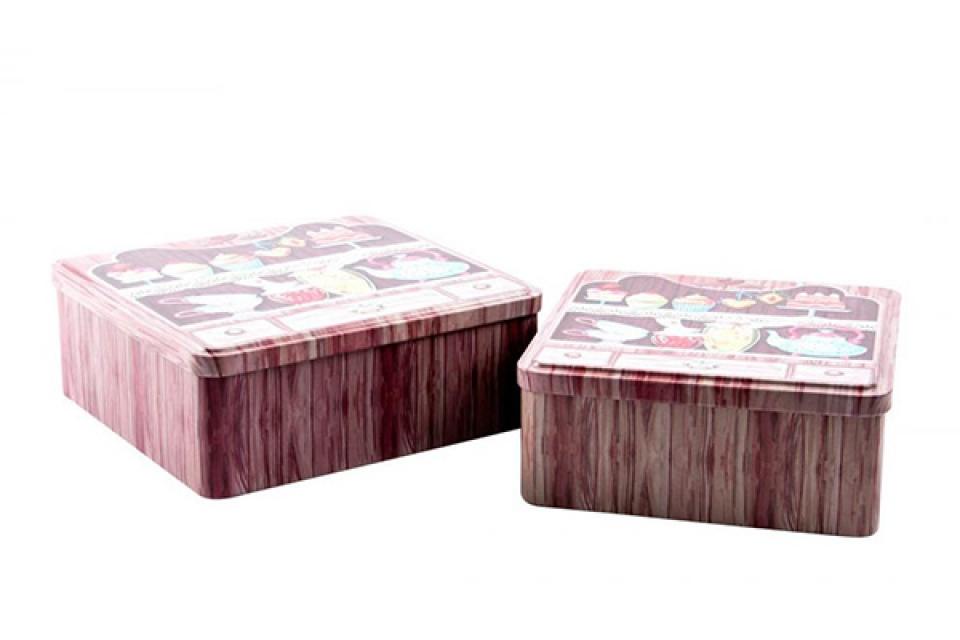 Kutija metalna set/2 roze