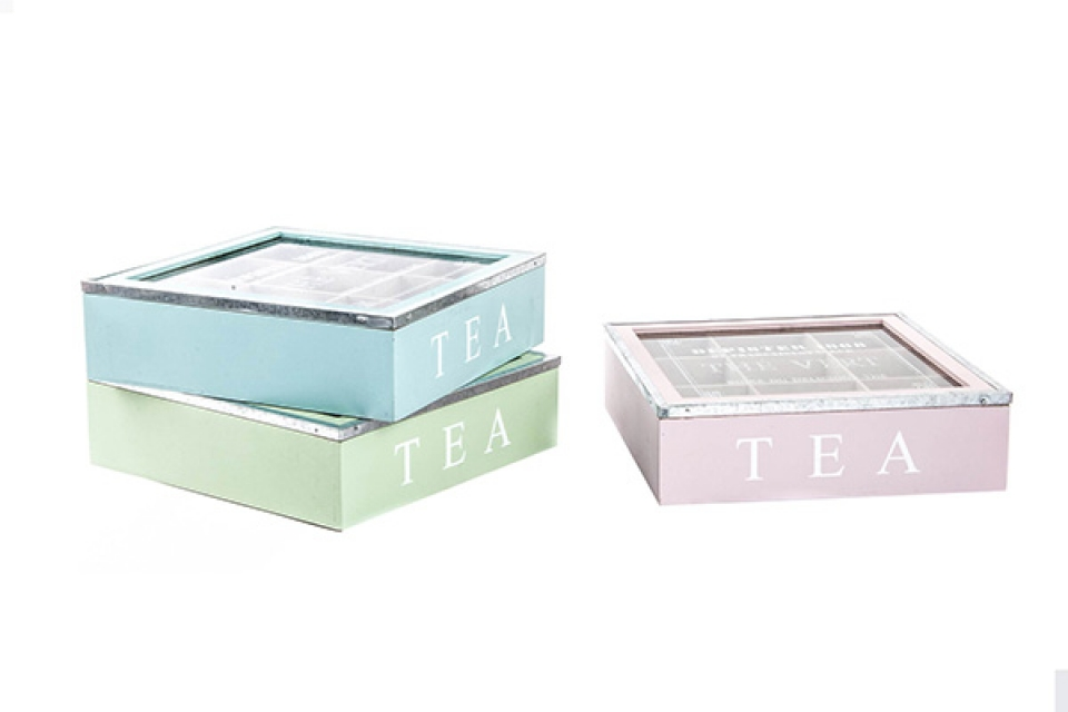 Kutija za čaj četvrtasta  24 x 24 x 7
