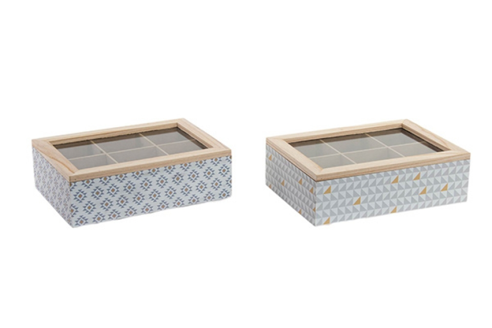 Kutija za čaj geometric 24x16x7 2 modela