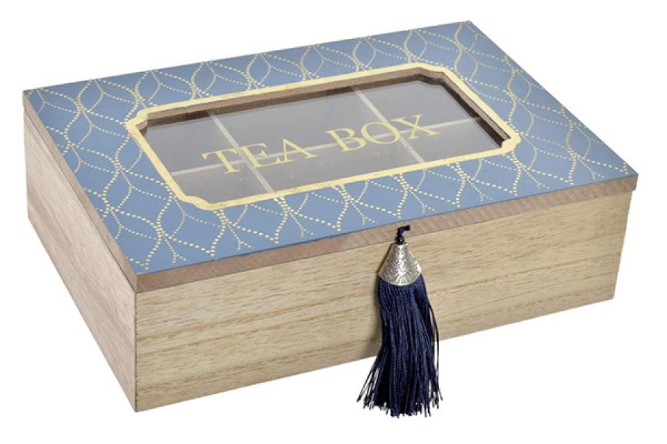 Kutija za čaj golden blue 24x16x8