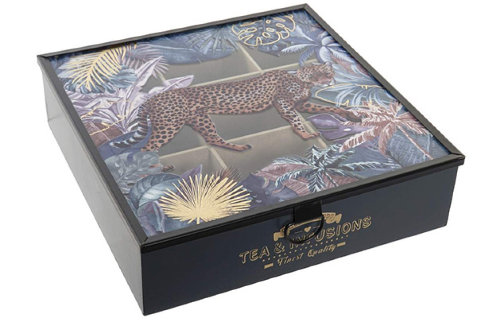 Kutija za čaj leopard black 24x24x6,5