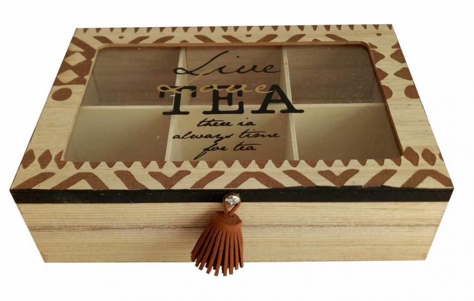 Kutija za čaj live love tea 24x24x6
