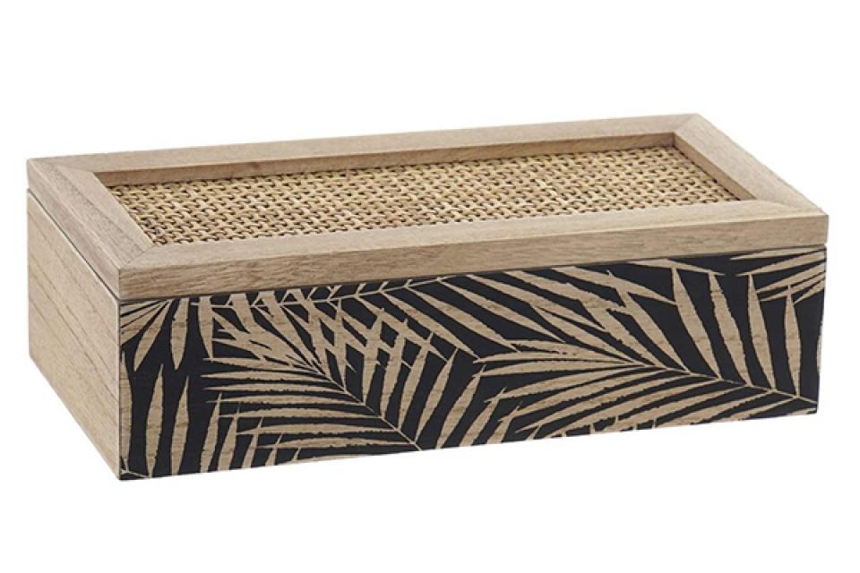 Kutija za čaj natur black 24x10x7