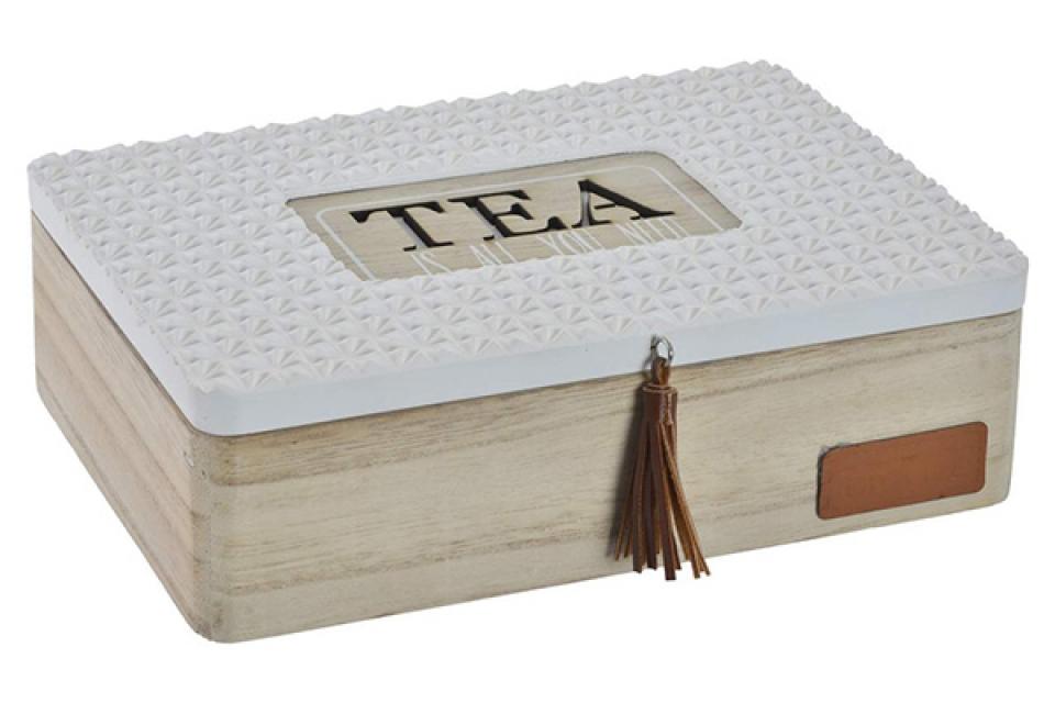 Kutija za čaj natural white 24x18x7,5