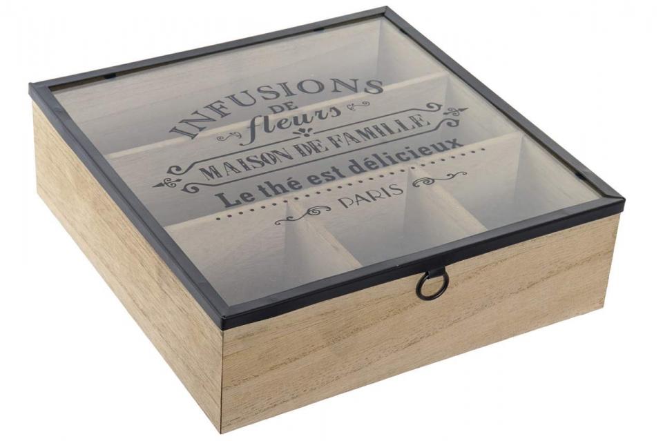 Kutija za čaj pariz 24x24x7,5