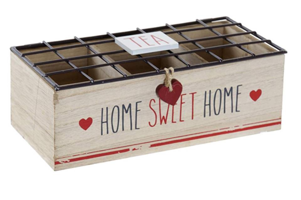 Kutija za čaj red heart 24x10,5x8,5
