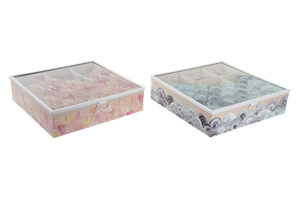 Kutija za čaj shells 24x24x6,5 2 modela