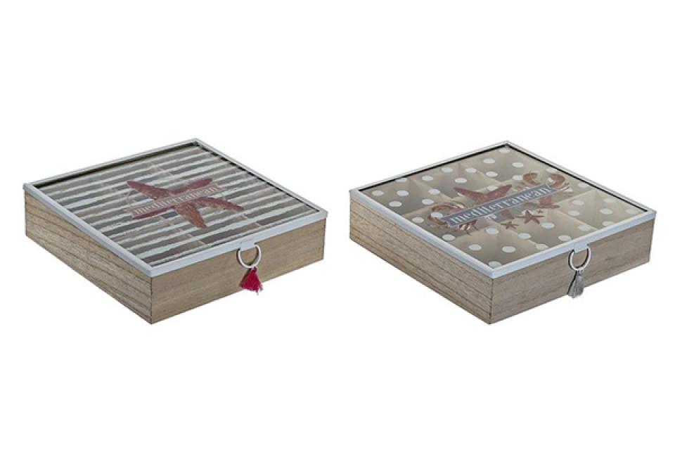 Kutija za čaj summer 24x24x7 2 modela