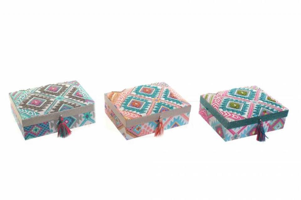 Kutija za nakit boho 17x13x6 3 modela