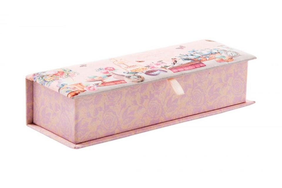 Kutija za nakit izdužena/roze