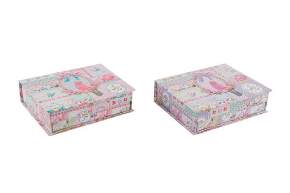 Kutija za nakit papagaj  / karton 25x20x7 2 boje