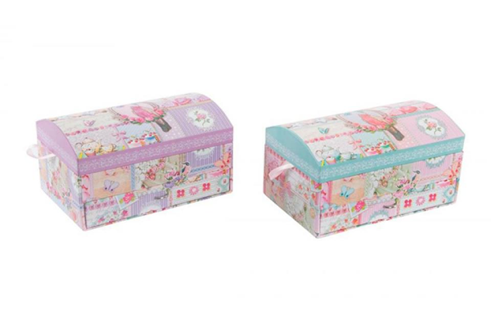 Kutija za nakit sa pticom 20x13x11 2 boje