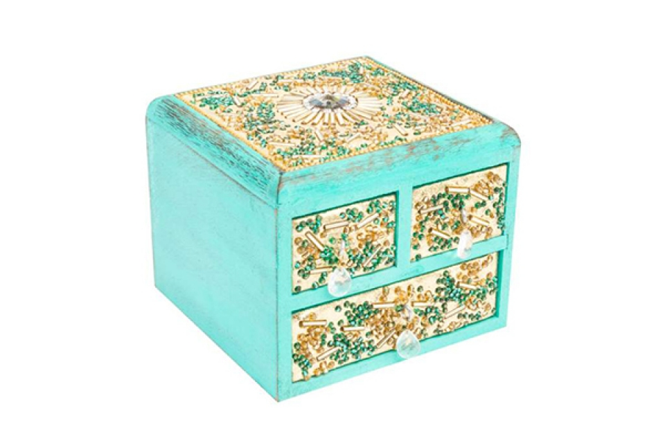 Kutija za nakit šljokice 10x10x8,5