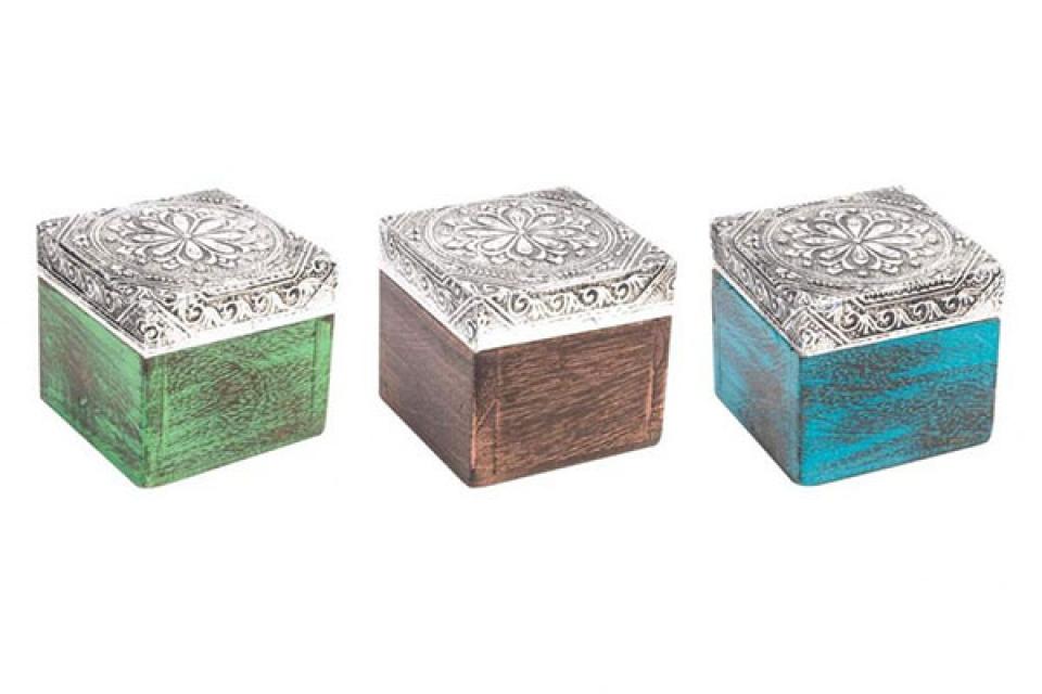 Kutija za nakit u tri boje 5x5x5