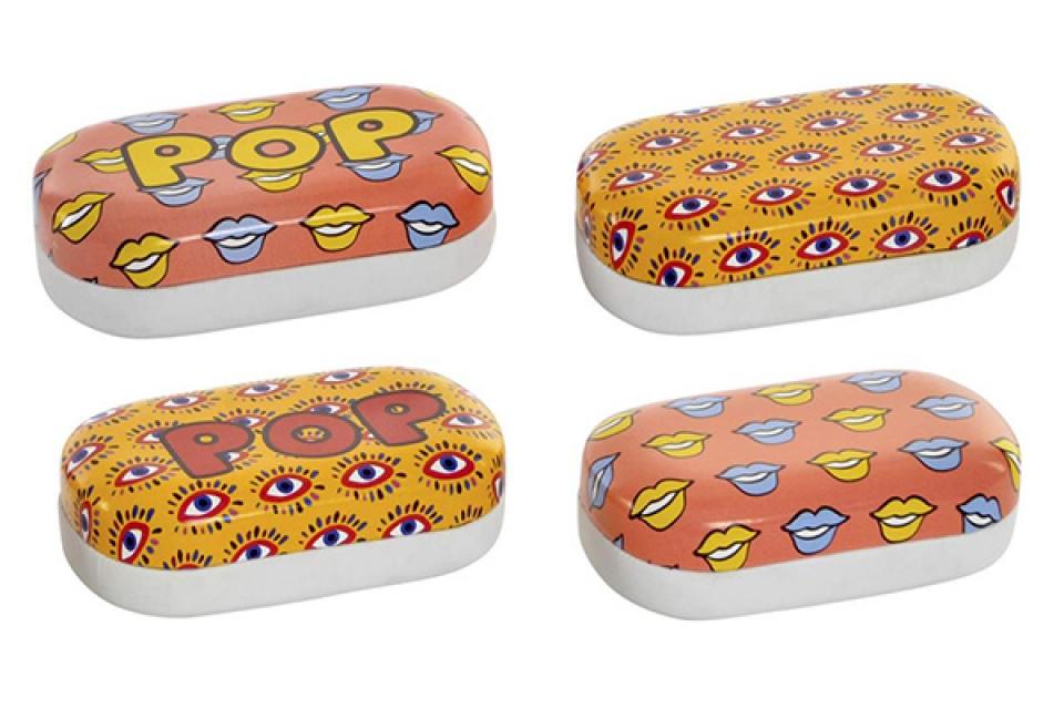 Kutijica za sočiva pop art 9,7x5,5x3,2 4 modela
