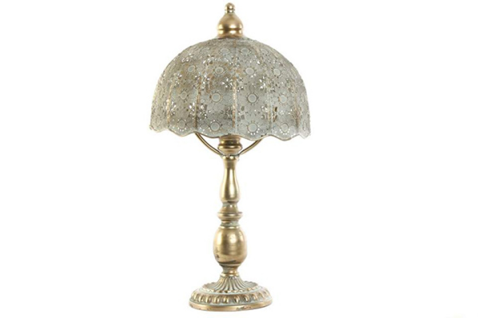 Lampa golden ethnic 30x30x54