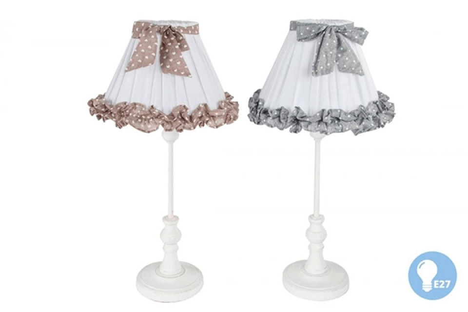 Lampa sa sivom i braon mašnom 22x50 2 boje