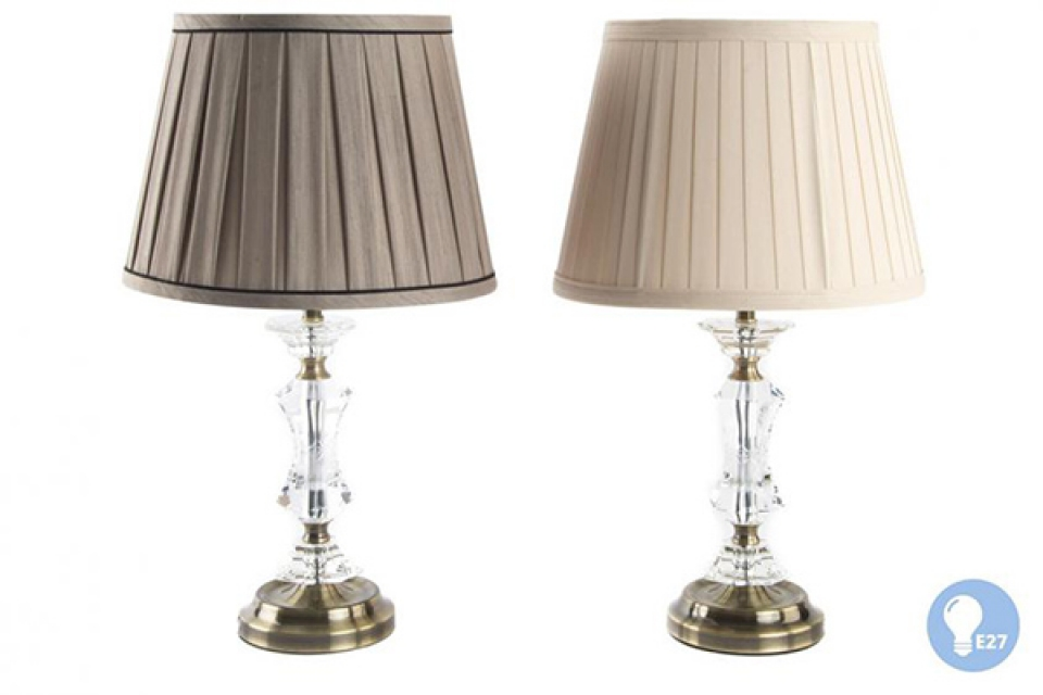 Lampa sa staklenim detaljima ii 28x28x50 2 modela
