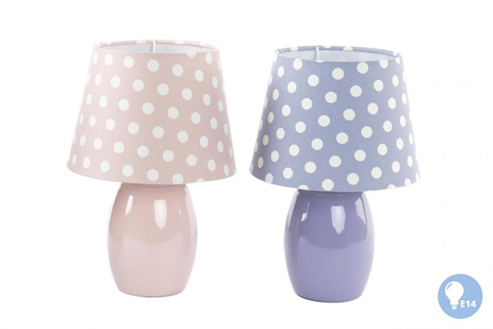 Lampa sa tufnama na abažuru 20x29 e14 2 boje
