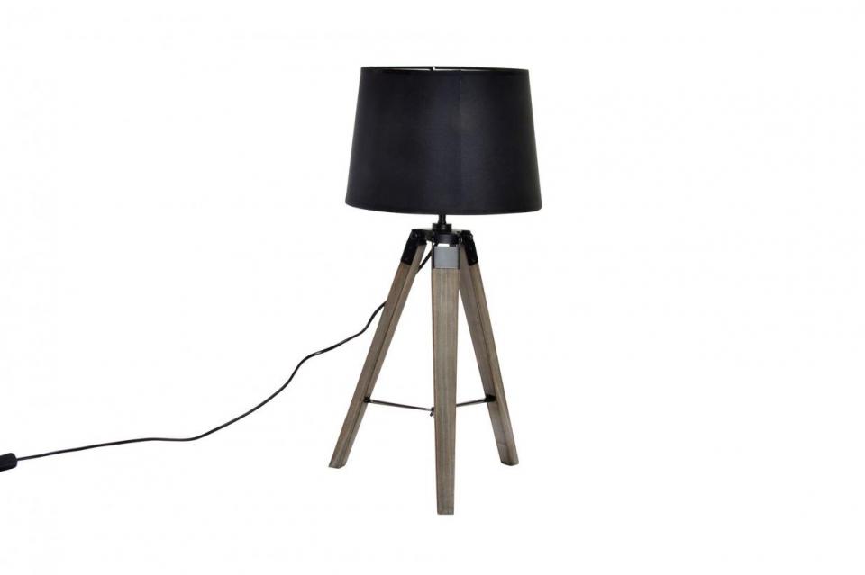 Lampa tronožac crna 30x65