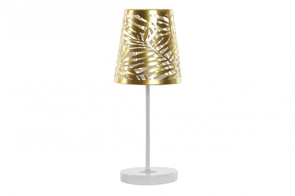 Lampa zlatno lišće 14x14x35