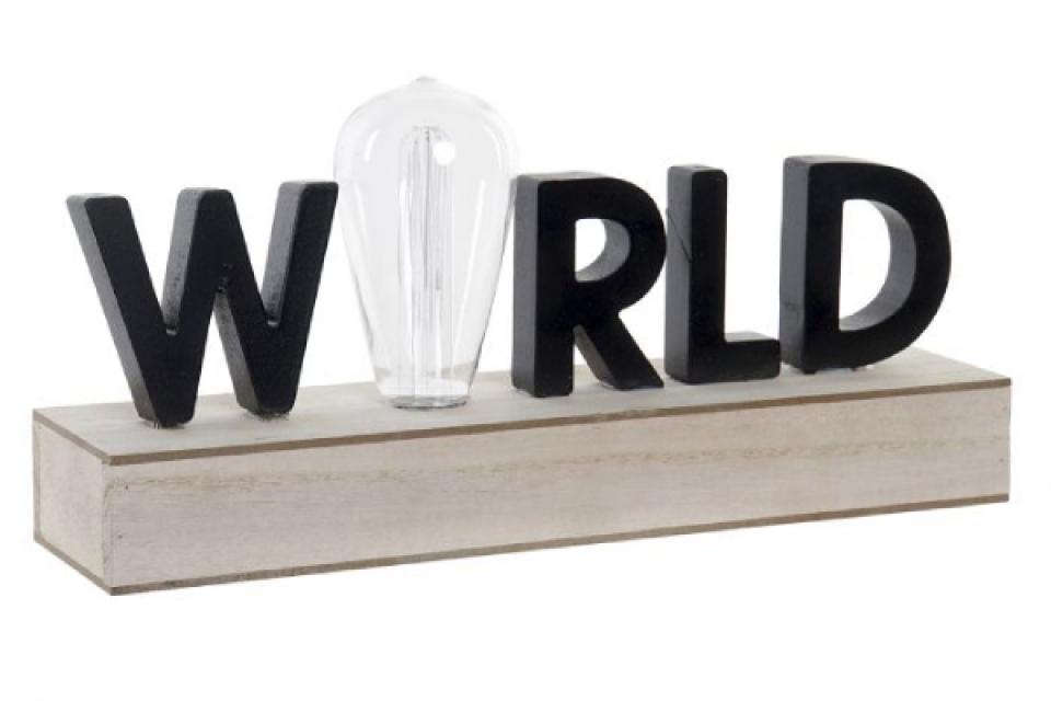 Led dekoracij world 34x8x16