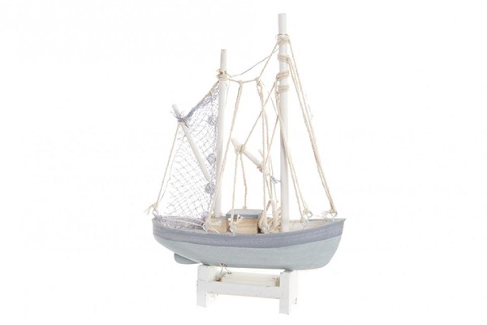 Led dekoracija sivi brod 29x5,5x18,5