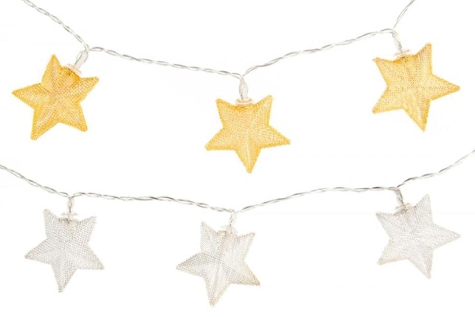 Led dekoracija zvezde 150 cm 2 boje