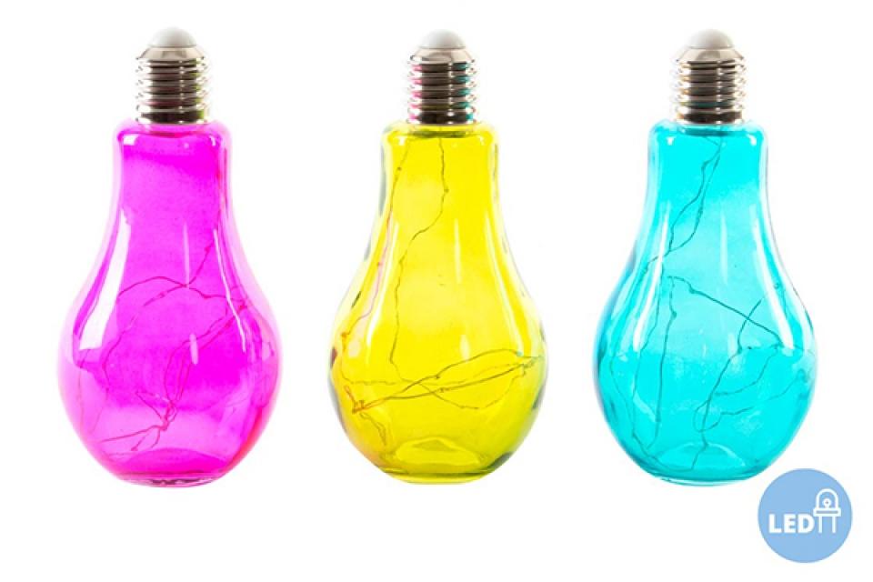 Led lampa u obliku sijalice 11x23 3 boje