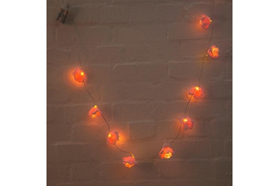 Led lampioni roze ruže 7x135x3