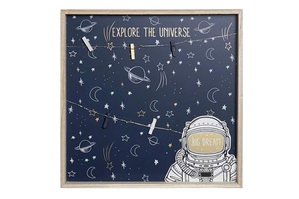 Led memo slika astronaut 40x40x3