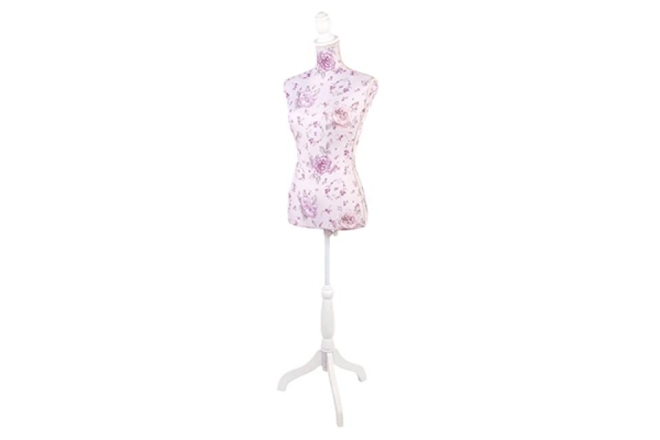 Lila krojačka lutka sa ružicama 30x18x131