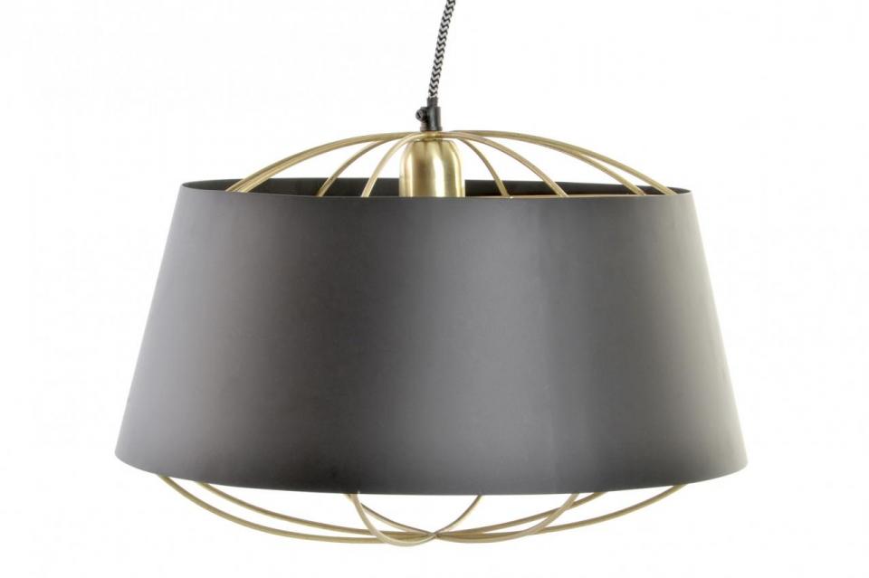Luster golden black 40x40x26 124cm / metal