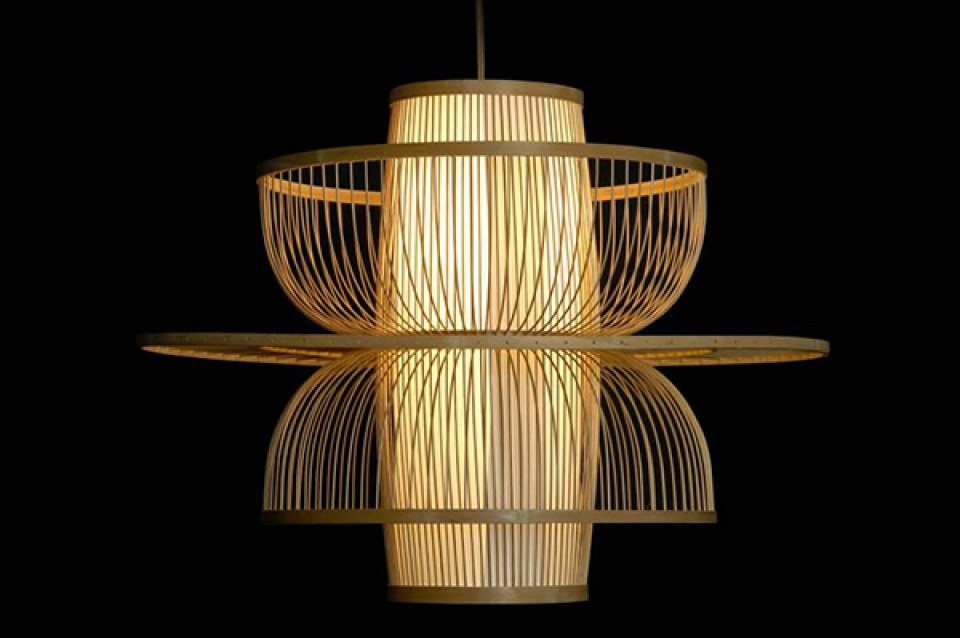 Luster natural brown / bambus 65x65x50