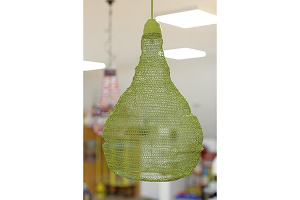 Luster od pletene žice/limeta/35x52cm